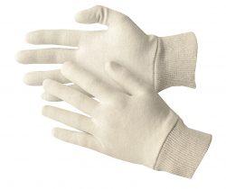503/3085 - Baumwoll-Handschuhe mit Strickbund