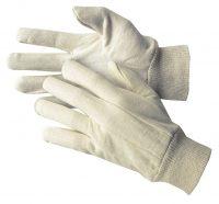 503/519 - Baumwollhandschuhe velourisiert mit Strickbund